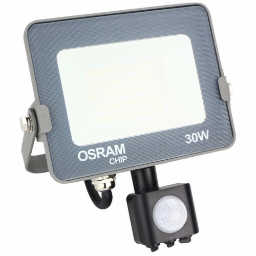 OSRAM - LED Bouwlamp 30 Watt met sensor - LED Schijnwerper - Natuurlijk Wit 4000K - Waterdicht IP65