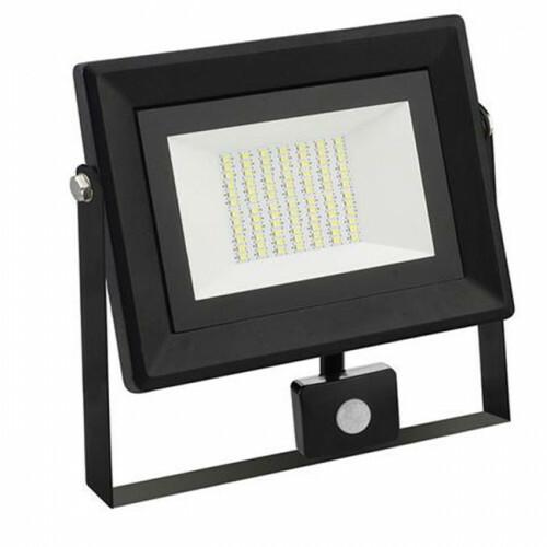 LED Bouwlamp 50 Watt met sensor - LED Schijnwerper - Pardus - Helder/Koud Wit 6400K - Waterdicht IP65