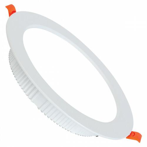 LED Downlight - Alexy - Inbouw Rond 12W - Helder/Koud Wit 6400K - Mat Wit Aluminium - Ø120mm