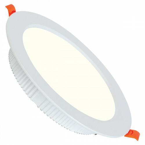 LED Downlight - Alexy - Inbouw Rond 30W - Natuurlijk Wit 4200K - Mat Wit Aluminium - Ø230mm