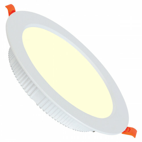 LED Downlight - Alexy - Inbouw Rond 30W - Warm Wit 3000K - Mat Wit Aluminium - Ø230mm