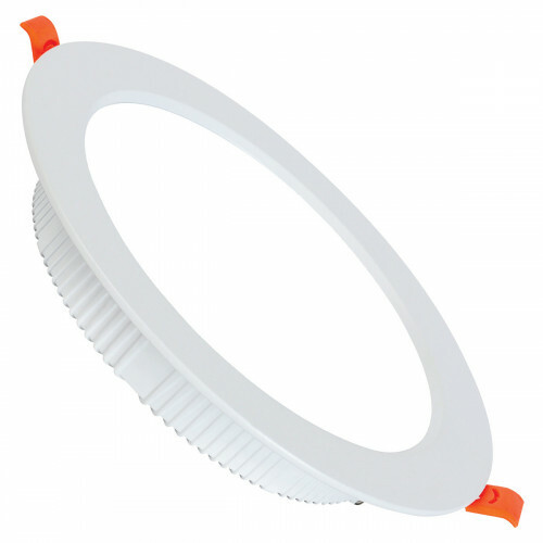 LED Downlight - Alexy - Inbouw Rond 8W - Helder/Koud Wit 6400K - Mat Wit Aluminium - Ø98mm