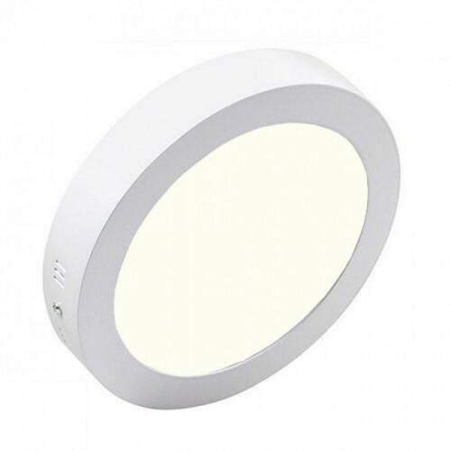 LED Downlight - Opbouw Rond 12W - Natuurlijk Wit 4200K - Mat Wit Aluminium - Ø170mm