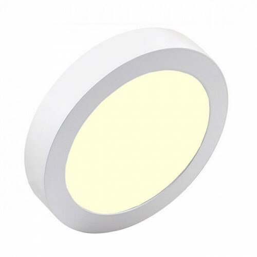 LED Downlight Pro - Aigi - Opbouw Rond 12W - Warm Wit 3000K - Mat Wit - Ø177mm