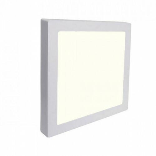 LED Downlight Pro - Aigi - Opbouw Vierkant 18W - Natuurlijk Wit 4000K - Mat Wit - 227mm