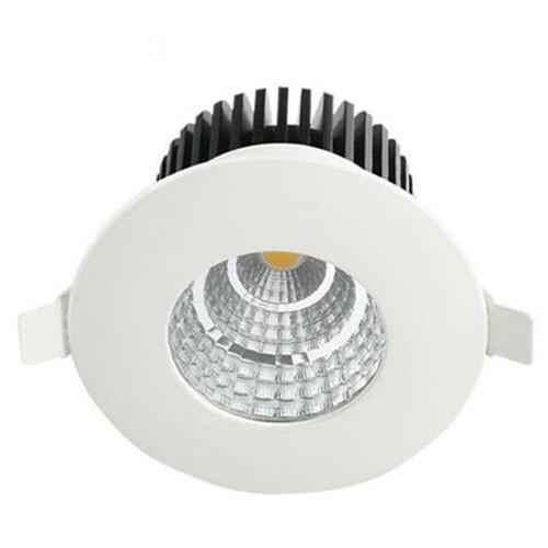 LED Downlight - Inbouw Rond 6W - Waterdicht IP65 - Natuurlijk Wit 4200K - Mat Wit Aluminium - Ø90mm
