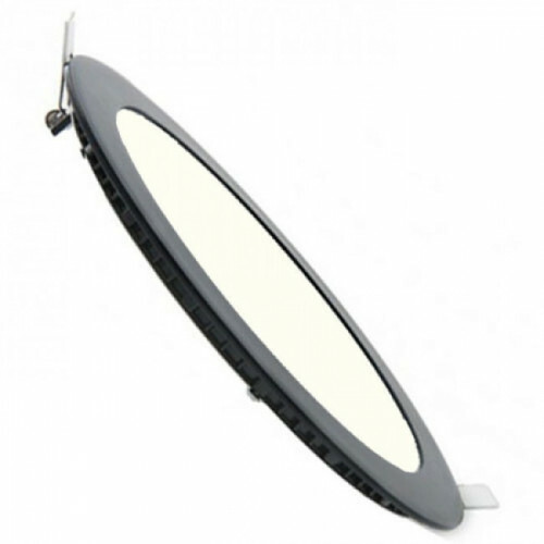 LED Downlight Slim - Inbouw - 3W - Dimbaar - Natuurlijk Wit 4200K - Rond - Mat Zwart - Aluminium - Ø90mm