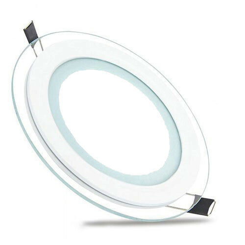 LED Downlight Slim - Inbouw Rond 6W - Helder/Koud Wit 6400K - Mat Wit Glas - Ø96mm
