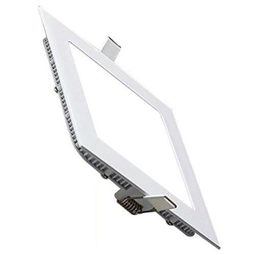 LED Downlight Slim - Inbouw Vierkant 9W - Helder/Koud Wit 6400K - Mat Wit Aluminium - 146mm