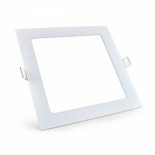 LED Downlight Slim Pro - Aigi - Inbouw Vierkant 12W - Helder/Koud Wit 6000K - Mat Wit - 165mm