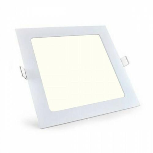 LED Downlight Slim Pro - Aigi - Inbouw Vierkant 18W - Natuurlijk Wit 4000K - Mat Wit - 220mm