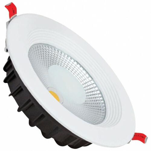 LED Downlight - Verona - Inbouw Rond 30W - Helder/Koud Wit 6400K - Mat Wit Aluminium - Ø225mm