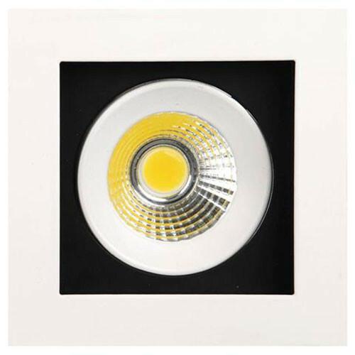 LED Downlight - Inbouw Vierkant 8W - Helder/Koud Wit 6400K - Mat Wit Aluminium - Kantelbaar 100mm