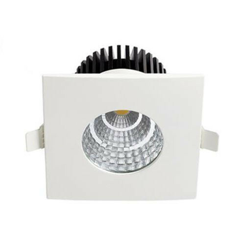 LED Spot - Inbouwspot - Vierkant 6W - Waterdicht IP65 - Natuurlijk Wit 4200K - Mat Wit Aluminium - 90mm