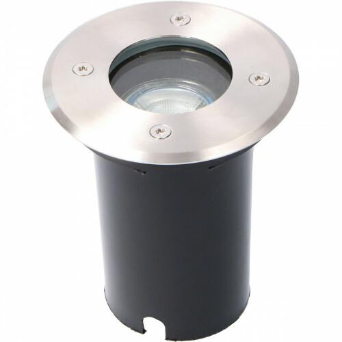LED Grondspot - Sanola Aton - Inbouw - Rond - GU10 Fitting - Waterdicht IP67 - RVS Geborsteld