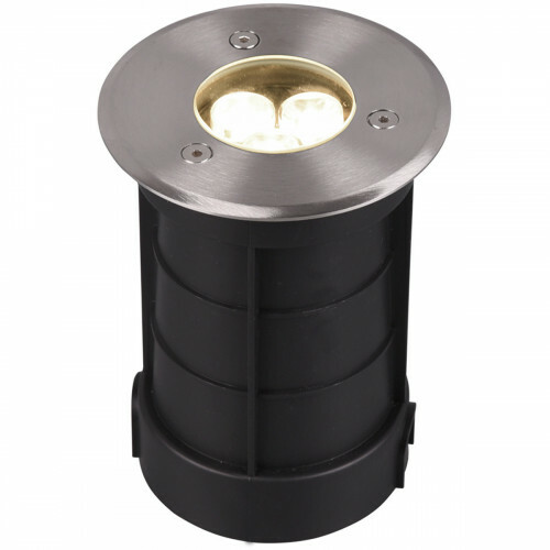 LED Grondspot - Trion Baliyi - Inbouw Rond - 3W - Waterdicht IP65 - Warm Wit 3000K - Mat Nikkel - RVS