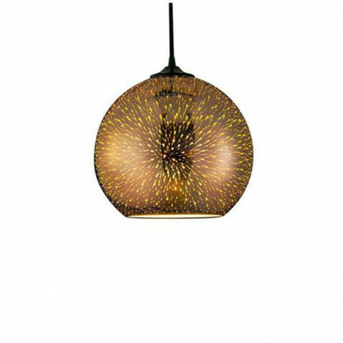 LED Hanglamp 3D - Quanta - Rond - Koper Glas - E27