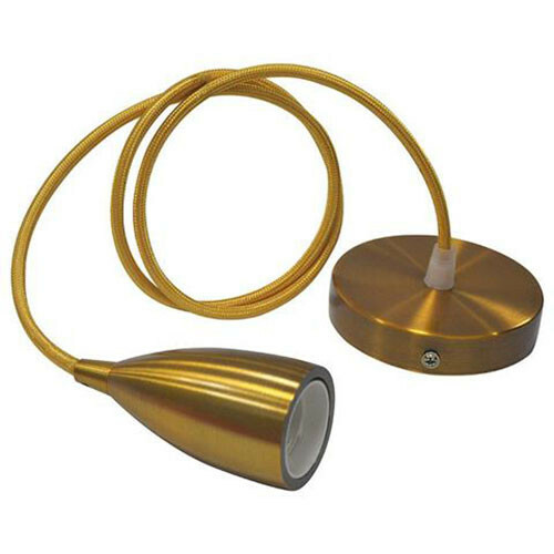 LED Hanglamp - Edysa - Industrieel - Rond - Mat Goud Aluminium - E27