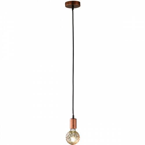 LED Hanglamp - Hangverlichting - Trion Cardino - E27 Fitting - 1-lichts - Rond - Antiek Koper - Aluminium