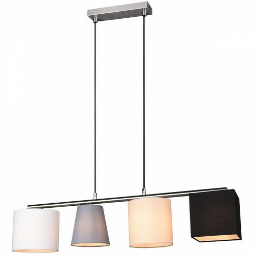 LED Hanglamp - Hangverlichting - Trion Cinomi - E14 Fitting - Rechthoek - Mat Nikkel - Aluminium