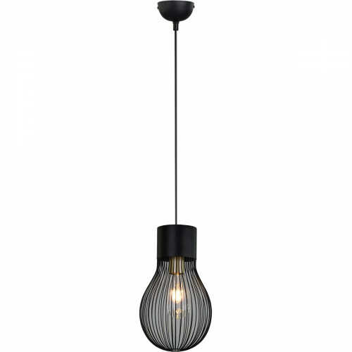 LED Hanglamp - Hangverlichting - Trion Divo - E27 Fitting - 1-lichts - Rond - Mat Zwart - Aluminium