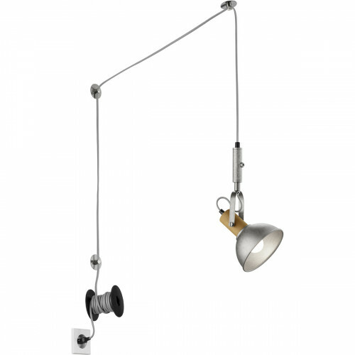 LED Hanglamp - Hangverlichting - Trion Doly - E14 Fitting - Rond - Antiek Nikkel - Aluminium