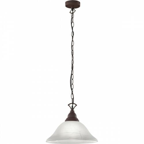 LED Hanglamp - Hangverlichting - Trion Kantra - E27 Fitting - 1-lichts - Rond - Roestkleur - Aluminium