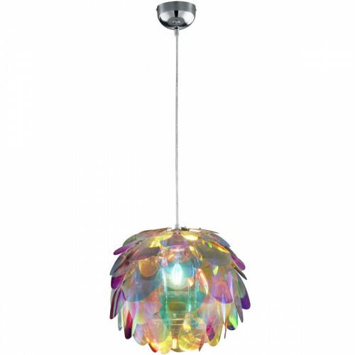 LED Hanglamp - Hangverlichting - Trion Klova - E27 Fitting - Rond - Mat Chroom - Aluminium