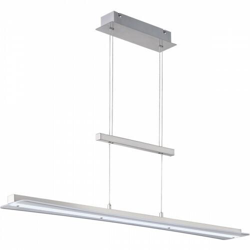 LED Hanglamp - Hangverlichting - Trion Posan - 18W - Aanpasbare Kleur - Dimbaar - Rechthoek - Mat Nikkel - Aluminium