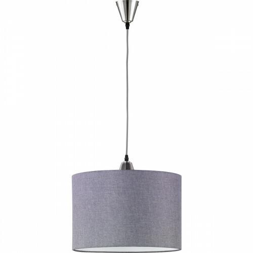 LED Hanglamp - Hangverlichting - Trion Tinomi - E27 Fitting - Rond - Mat Nikkel - Aluminium
