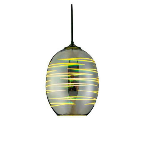LED Hanglamp 3D - Structure - Ovaal - Chroom Glas - E27