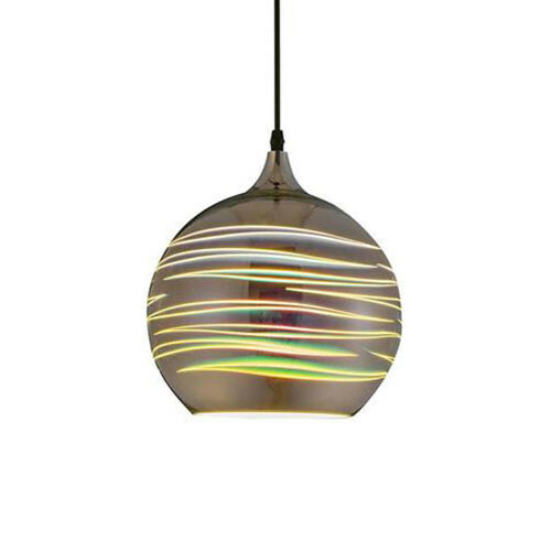 LED Hanglamp 3D - Structure - Rond - Chroom Glas - E27