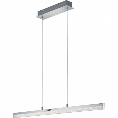 LED Hanglamp - Trion Aloany - 18W - Warm Wit 3000K - Rechthoek - Glans Chroom - Aluminium