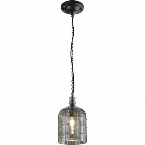 LED Hanglamp - Trion Astro - E14 Fitting - Rond - Mat Zwart Aluminium