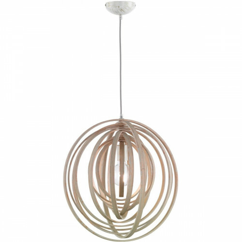 LED Hanglamp - Trion Bola - E27 Fitting - Rond - Mat Lichtbruin Hout