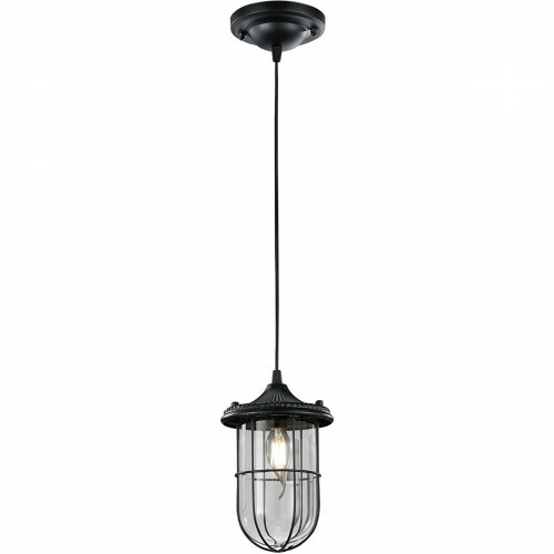 LED Hanglamp - Trion Brinity - E14 Fitting - Rond - Mat Zwart - Aluminium