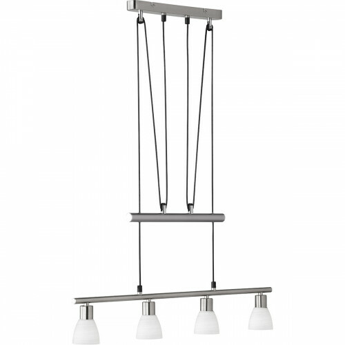 LED Hanglamp - Trion Caru - 12W - G9 Fitting - Warm Wit 3000K - Dimbaar - Rechthoek - Mat Nikkel - Aluminium