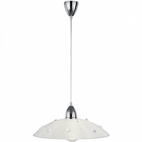 LED Hanglamp - Trion Corado - E27 Fitting - Rond - Glans Chroom - Aluminium
