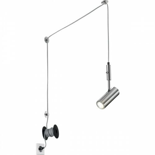 LED Hanglamp - Trion Corlo - GU10 Fitting - Rond - Mat Nikkel - Aluminium