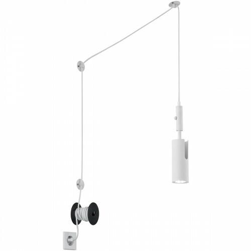 LED Hanglamp - Trion Corlo - GU10 Fitting - Rond - Mat Wit - Aluminium