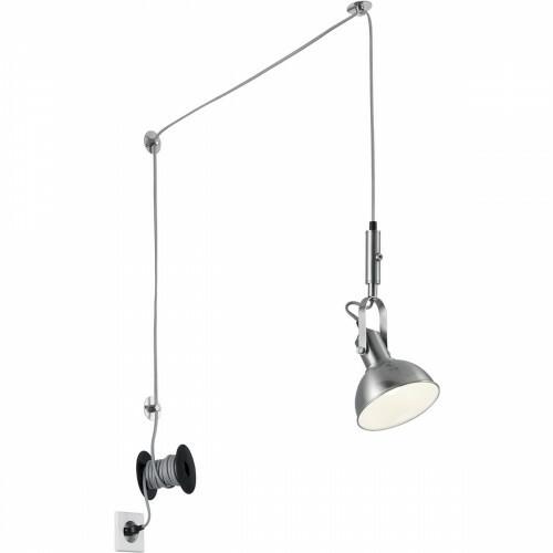 LED Hanglamp - Trion Corloni - E14 Fitting - Rond - Mat Nikkel - Aluminium