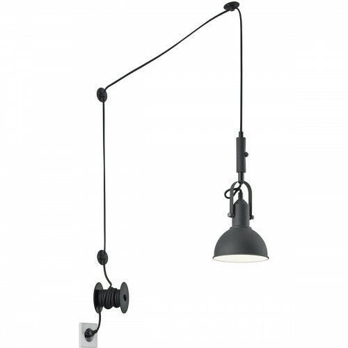 LED Hanglamp - Trion Corloni - E14 Fitting - Rond - Mat Zwart - Aluminium