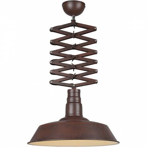 LED Hanglamp - Trion Detrino - E27 Fitting - 1-lichts - Rond - Roestkleur - Aluminium