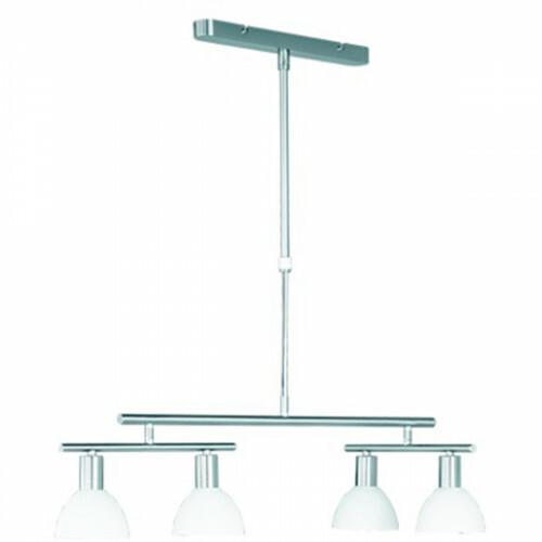 LED Hanglamp - Trion Dolina - E14 Fitting - 5-lichts - Rond - Mat Nikkel - Aluminium