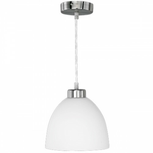 LED Hanglamp - Trion Dolina - E27 Fitting - 1-lichts - Rond - Mat Chroom - Aluminium