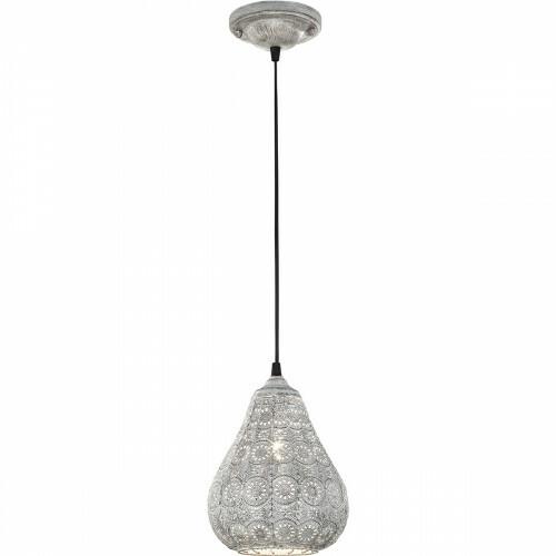 LED Hanglamp - Trion Jesma - E14 Fitting - Rond - Mat Grijs Aluminium