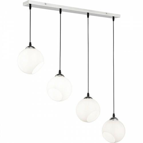 LED Hanglamp - Trion Klino - E27 Fitting - 4-lichts - Rond - Mat Chroom - Aluminium