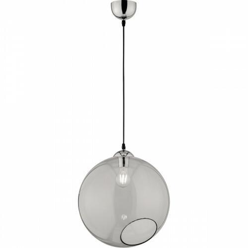 LED Hanglamp - Trion Klino XL - E27 Fitting - 1-lichts - Rond - Mat Chroom Rookkleur - Aluminium