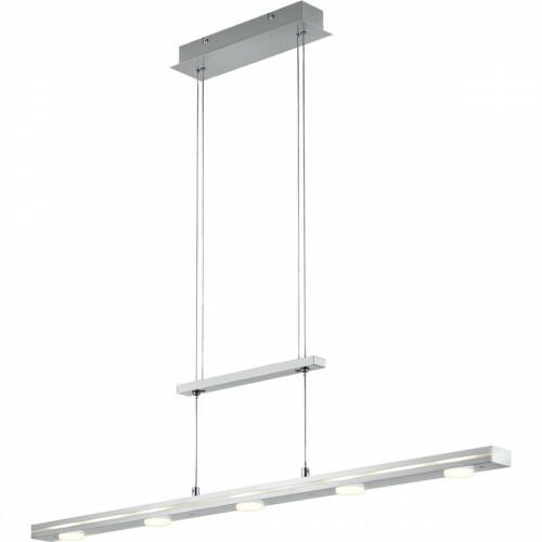 LED Hanglamp - Trion Lacy - 21W - Aanpasbare Kleur - 7-lichts - Dimbaar - Rechthoek - Mat Nikkel - Aluminium