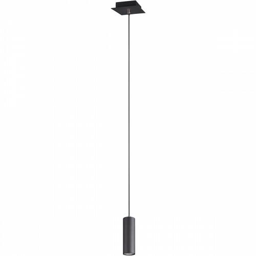 LED Hanglamp - Trion Mary - GU10 Fitting - 1-lichts - Rond - Mat Zwart - Aluminium